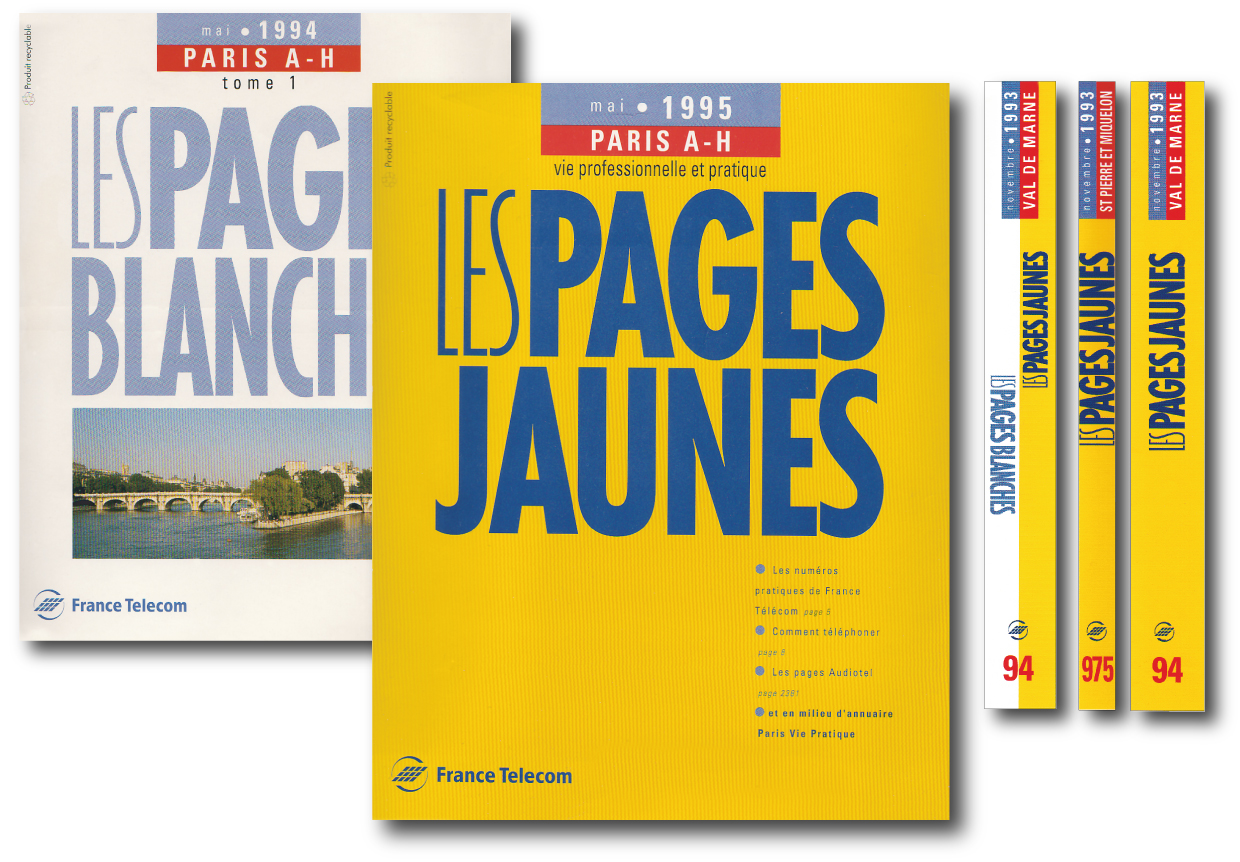 pages jaunes pages blanches